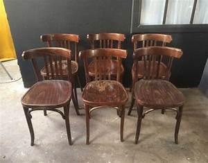 Chaise Bistrot Bois : table et chaise bistrot ancienne ~ Teatrodelosmanantiales.com Idées de Décoration