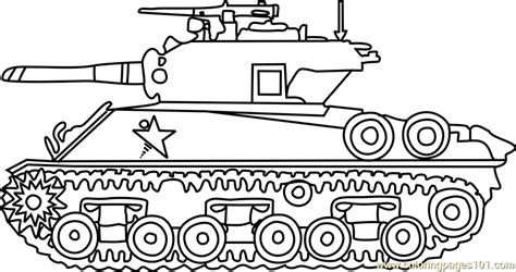sherman army tank coloring page  tanks coloring