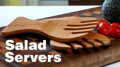 hardwood salad servers easy  bandsaw project