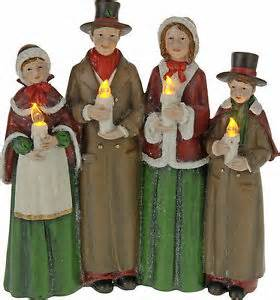 traditional choir scene christmas figures led christmas light carol singers ebay