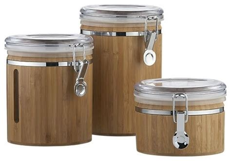 kitchen jars and canisters bamboo clip canisters contemporary kitchen canisters