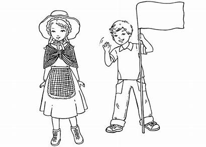 Coloring English Children Pages Around Traditional Clothing
