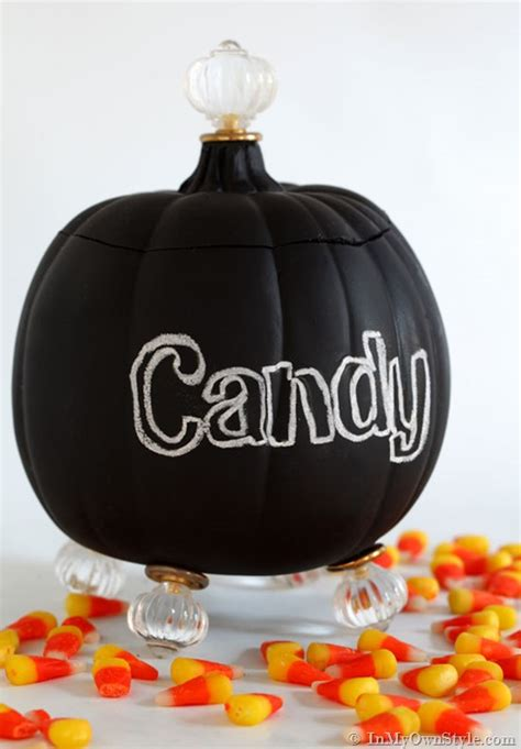 Halloween Candy Dish With Lid by It S A Pumpkin It S A Candy Jar In My Own Style
