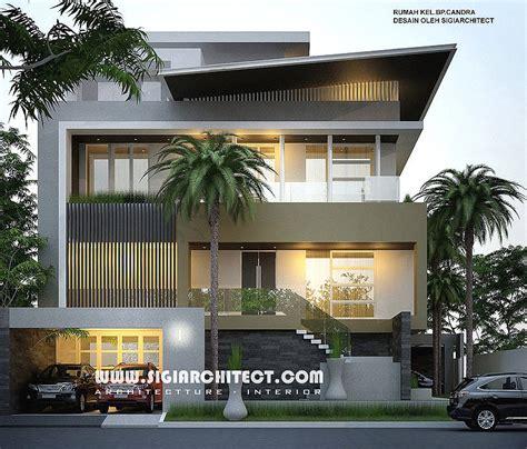 desain rumah mewah 3 4 lantai modern minimalis