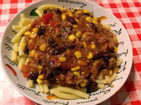 recette de pate de cagne les meilleures recettes de p 194 tes au chili con carne