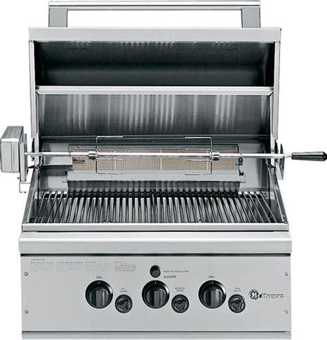 ge monogram  outdoor cooking center   grill burners rotisserie  rack liquid