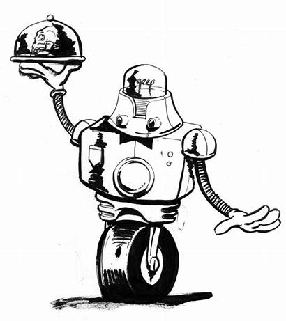 Robot Retro Sketch Drawing Sketches Please Rate