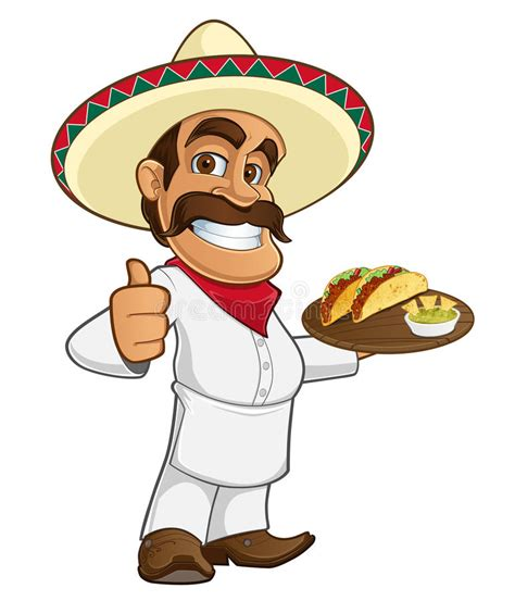 mexican cook stock vector illustration  restaurant