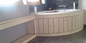 Habillage Baignoire Bois : habillage baignoire bois free emejing baignoire salle de ~ Premium-room.com Idées de Décoration