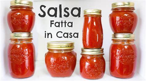 salsa fatta in casa conserva di salsa di pomodoro fresco fatta in casa