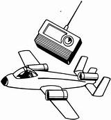 Radio Coloring Remote Control Pages Plane Tv Clipart Airplane Drawing Aircraft Sheets Printable Receiver Computer Butterfly Cliparts Getdrawings Toys Clipartbest sketch template