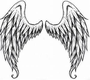 Simple Angel Wings Drawing   Free download best Simple ...
