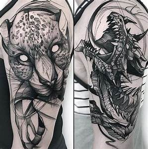 60 Sketch Tattoos For Men - Artistic Design Ideas