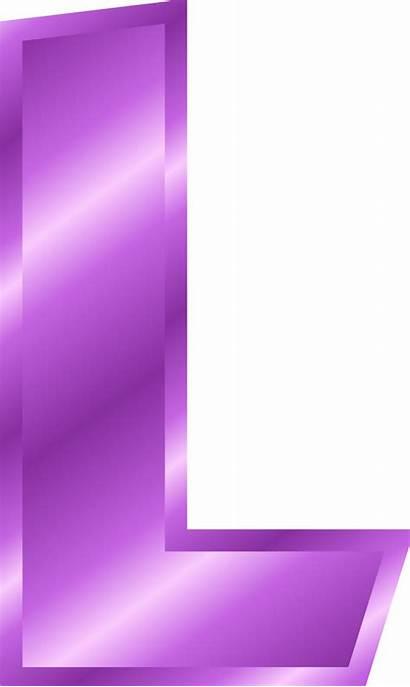 Purple Letters Clipart Letter Alphabet Transparent Webstockreview