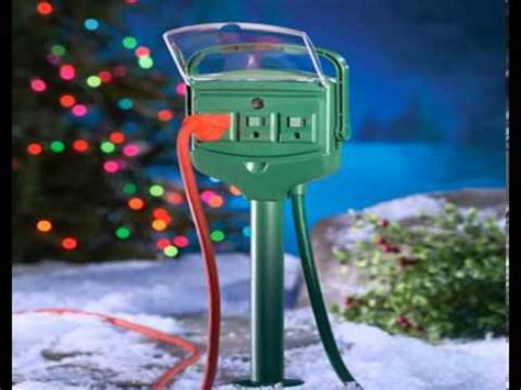 outdoor extension cords for christmas lights youtube