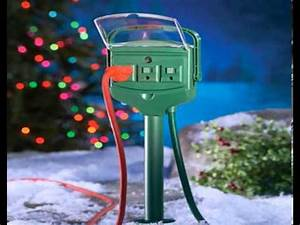 outdoor extension cords for christmas lights youtube With outdoor christmas lights extension box