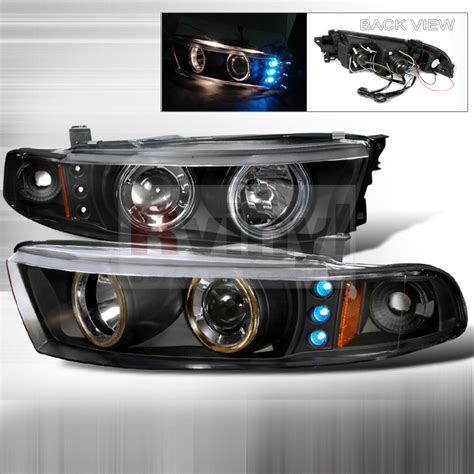 Mitsubishi Galant Headlights by Spec D Tuning 174 Mitsubishi Galant 1999 2002 Black Projector