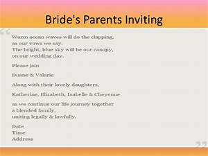 free wedding invitation wording With wedding invitations wording bride s parents