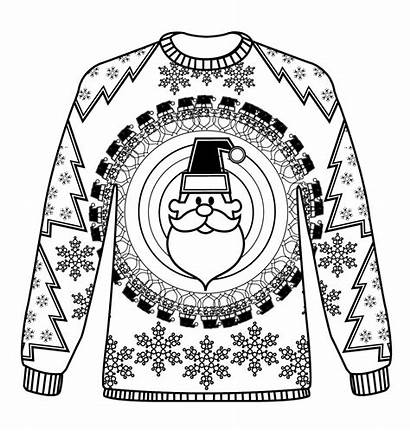 Christmas Colouring Jumpers Pattern Sheets Jumper Coloring