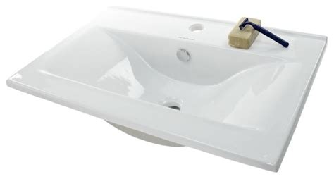 Ultra Modern Bathroom Sinks by Ultra Modern Rectangular Self Ceramic Sink