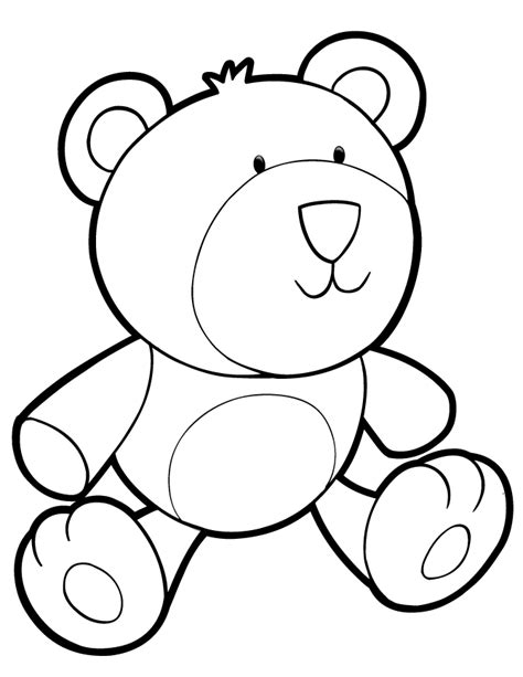 plush teddy bear coloring page   coloring pages