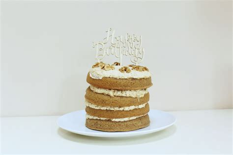 Place the butter, caster sugar, eggs, flour, baking powder, coffee and milk into a large bowl, or the bowl of a stand. Recipe: Coffee & Walnut Birthday Cake | FOOD | FREYA WILCOX