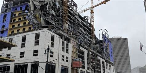 hard rock hotel  construction collapses  downtown