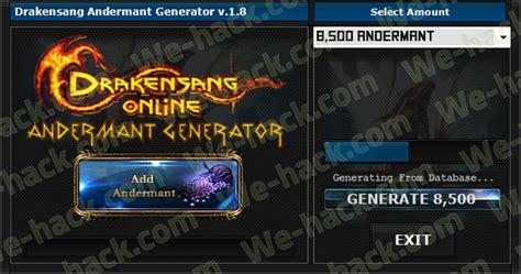drakensang andermant generator 2016 tool with updated drakensang andermant