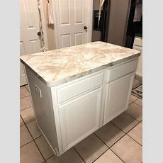 Instant Peel And Stick Riviera White Marble Counter Top