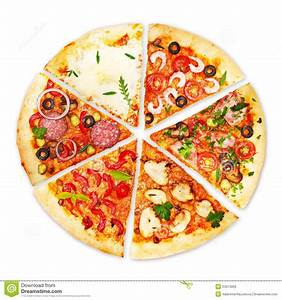 Pizza Slice With Different Toppings Stock Image Image Of