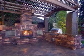 Outdoor Kitchens And Fireplaces by Outdoor Entertaining Landscaping Home Decoration Club