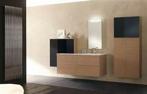 Meuble Salle De Bain Noir Et Bois : meubles salle de bains modernes en 105 photos magnifiques ~ Teatrodelosmanantiales.com Idées de Décoration