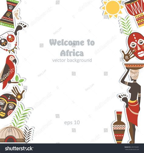 african background element pattern pottery design stock
