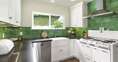 1931 Spanishstyle House With Emerald Green Kitchen Asks