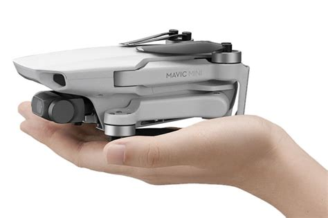 mavic mini djis lightest  smallest foldable drone