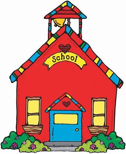 Clip Clipart Schoolhouse Clipartion Bulletin