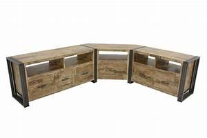Tele 90 Cm : meuble tv style industriel 90 40 55 cm indus ~ Teatrodelosmanantiales.com Idées de Décoration