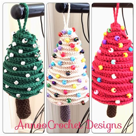 crochet christmas tree ornament knitting bee