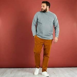 Kiabi T Shirt Homme : t shirt pais molleton l ger grande taille homme gris clair kiabi 7 50 ~ Nature-et-papiers.com Idées de Décoration