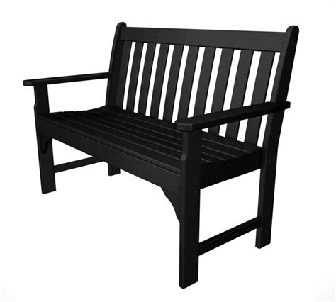 Black Bench, Black Benches, Outdoor Black Bench, Recycled