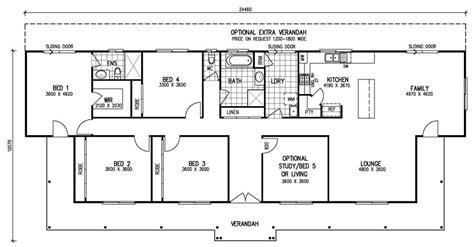 5 bedroom house floor plans the karingal mk iii 4 bedroom home kit homes