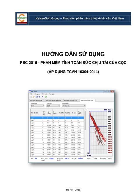 Pbc 2015  Huong Dan Su Dung Phan Mem Tinh Toan Sct Cua Coc