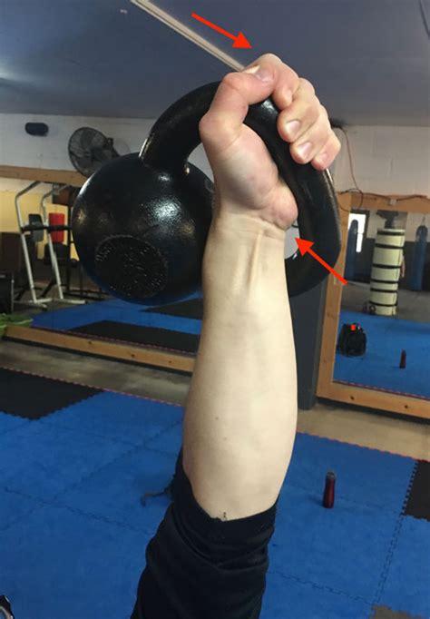 kettlebell grip grab handle hand corner diagram strength side