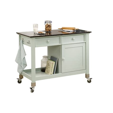 mobile kitchen islands sauder original cottage mobile kitchen island 414385 free shipping