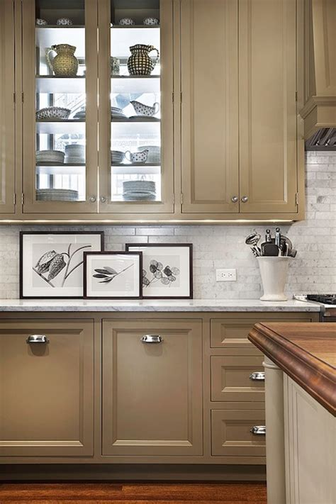 taupe kitchen cabinets design decor  pictures ideas inspiration paint colors