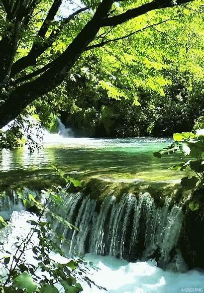 Waterfall Nature Inspiring Waterfalls Scenes Landscapes Uldissprogis