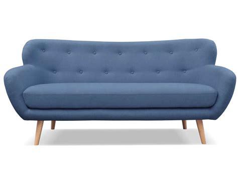 canapé tissu bleu canapé fixe 3 places en tissu oslo coloris bleu vente de