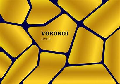 Voronoi Gold Diagram Geometric Abstract Background Dark