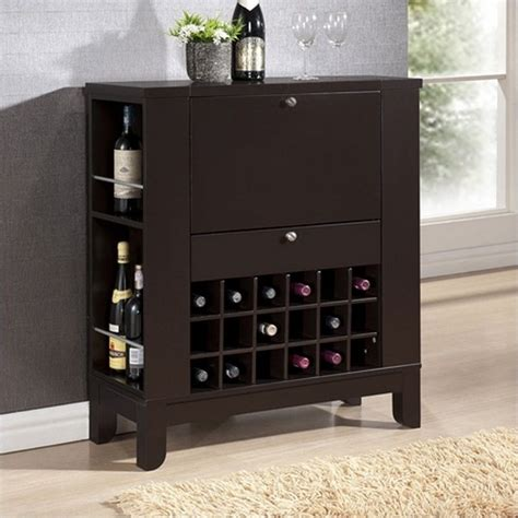 Office Supplies Modesto by Modesto Home Bar And Wine Cabinet In Brown