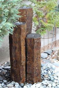 Naturstein Im Garten : quellstein 3er basalt s ulen wasserspiel gartenbrunnen ~ A.2002-acura-tl-radio.info Haus und Dekorationen